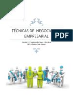 Técnicas de Negociación Empresarial