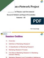 Research Methodology & Report Preparation 1
