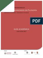 Guia Estudios Avanzados Filosofia 2016 2017