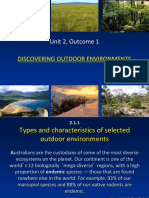 types and characteristics of outdoor environments