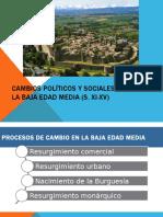 Cambios Políticis y Sociales en La Baja Edad Media
