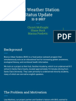 status update report  bronco urban gardens weather station project