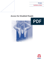 Sport England- Access for the Disabled