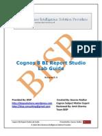 Cognos 8 BI Report Studio Lab Guide