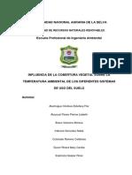 Influencia de La Cobertura Vegetal Sobre La Temperatura Ambiental de Los Diferentes Sistemas de Uso Del Suelo