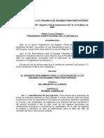 Reglamento Ley Organica Tributario