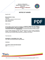 Notice of Award