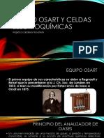 Equipo Osart y Celdas Electroquímicas