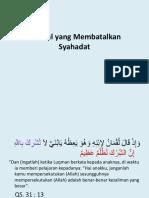 Hal Membatalkan Syahadat.pptx