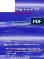 Twin Laws on Rape_RA 8353 & RA 8505_Handout