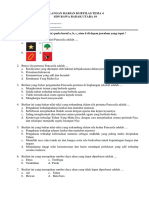 Ulangan Harian Kurtilas Kelas IV Tema 4