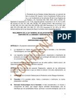 REGLAMENTO DE LA LEY GENERAL DE SALUD EN MATERIA DE CONTROL SANITARIO DE LA CANNABIS Y DERIVADOS DE LA MISMA