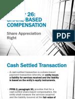 Share Based Compensation- Share Appreciation Right