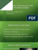 jessica love tec 561 - integrating technology into teaching models presentation