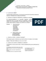 Cuestionario examen