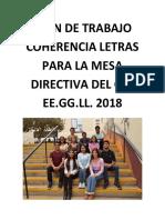 Plan de Trabajo Coherencia Letras 2018