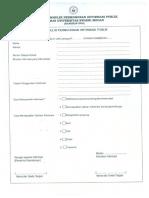 Formulir Permohonan Informasi Publik