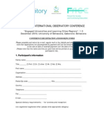 University of Botswana - 9th PASCAL Conference - Registration Form