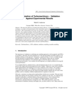 Optimization of Turbo Machinery Validation Against Experimental Results