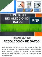 1.5 Tecnicas de Reoclección de Datos