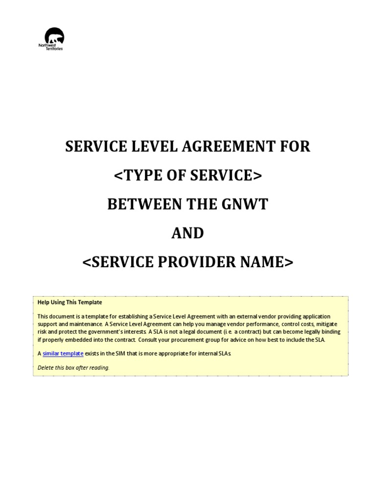 Outsourced Support Sla Service Level Agreement Software Quality