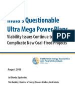 India's Questionable Ultra Mega Power Plans Viability Issues Continue to Complicate New Coal Fired Projects August 2016
