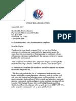 Deq Pollution Complaint Norfolk August 18, 2017.