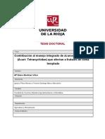 Contribucion Al Manejo Integrado De Acaros Tetraniquidos
