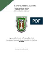 Plan de Estudios Lic en Enseñanza de Lenguas