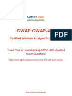 Up-to-date CWAP-402 Professional Exam Dumps (NOV 2017)
