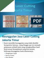 Jasa Laser Cutting Jakarta Timur Dengan Berbagai Macam Pilihan