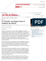 El «Parsifal» de Wagner llenó el Auditorio de Galicia