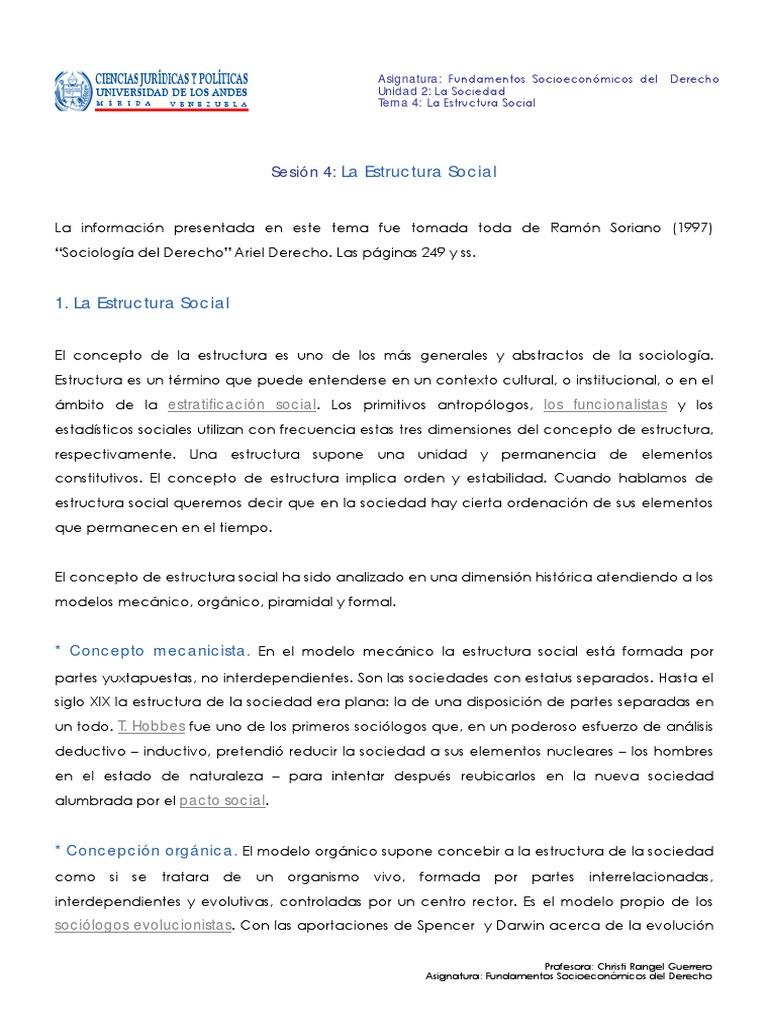 Sesion4 Estructura Social Pdf Social Structure Society