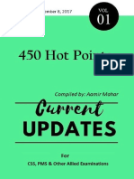 Current Updates 2017 (450 Hot Points) Volume-I