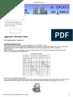 Aggregate Abrasion Value