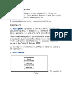 Técnicas De Organización Diseño Informática Y Tecnología