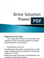 Brine Solution Power Bank