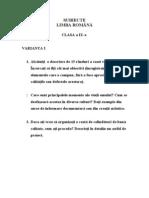 subiecte lb. romana