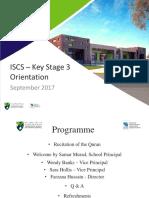 ISCS - Key Stage 3 Orientation - 2017-2018