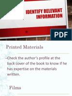 Identify Relevant Information.pptx