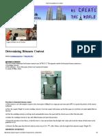 Determining Bitumen Content