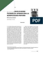Estudios Clinicos en Neuro-psicoanalisis (Coment)