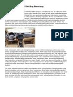 Cara Memilih Mobil Wuling Bandung