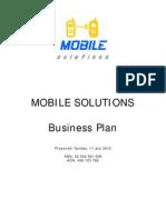 Mobile Soulutions - Business Plan