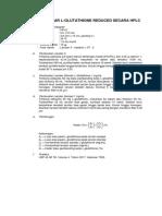 Penetapan Kadar L-Glutathione Reduced Secara HPLC