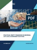 Political Party Finances in Georgia