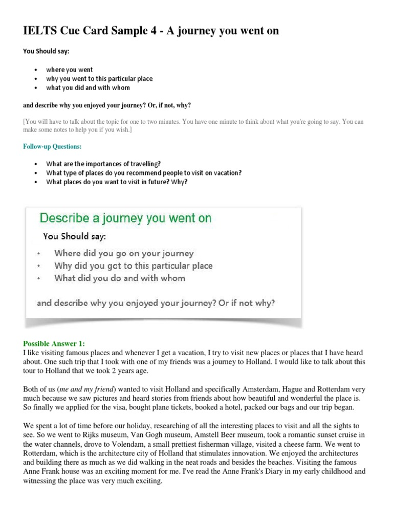 describe a journey you have enjoyed What jobs have you enjoyed most how do you answer 'describe your last job' in an interview the person interviewing you will have read all those answers too.