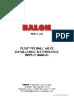 Floating Ball Valve Manual - Balon