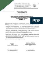 Pegumuman Kelulusan Sipenmaru Tahap X-25 Agustus 2010