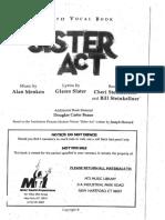 Sister Act Libretto Vocal Book